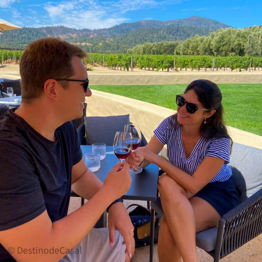 Degustação de vinhos na vinícola Robert Mondavi